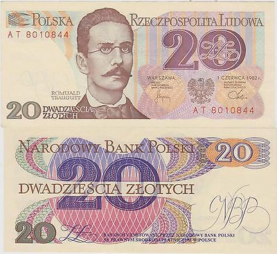 Polonia / Poland 20 Zloty 1982 FDS / UNC
