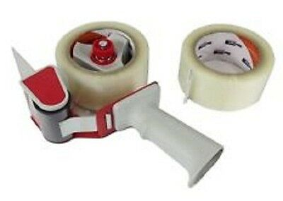 New 50mm Carton Sealer gun tape dispenser RED WITH 3X CLEAR TAPE