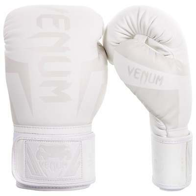 Venum Elite Muay Thai Boxing Gloves Sparring MMA Kickboxing White