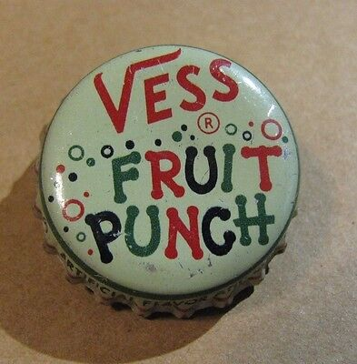 Vess  Fruit Punch  Soda Cork Bottle Cap *****clean & Colorful Cap****