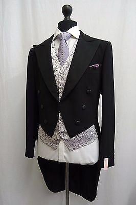 Men's Vintage 1930's Morning Coat Swallow Tail Tailcoat Size 38 SS9614