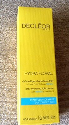 Decleor Hydra Floral 24hr Hydrating Light Cream 30ml Boxed