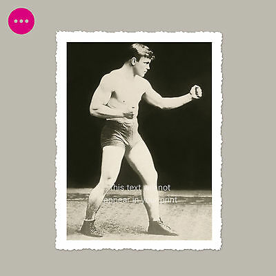 Shirtless Boxer Young Man Gay Interest Bulge Beefcake Male Muscle Vintage Photo