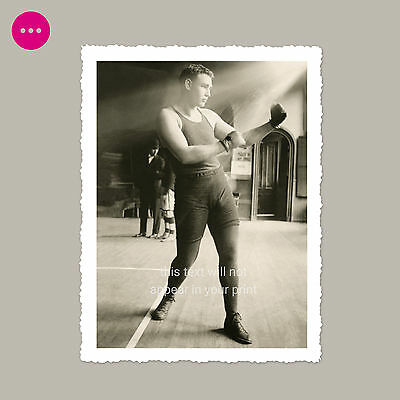 Beautiful Boxer Gay Interest Handsome Young Man Bulge Beefcake Vintage Photo
