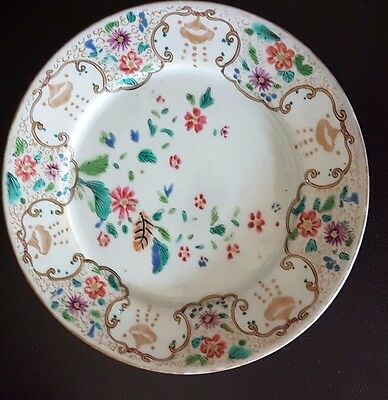 18th century Chinese plate with marks made for the Japanese market