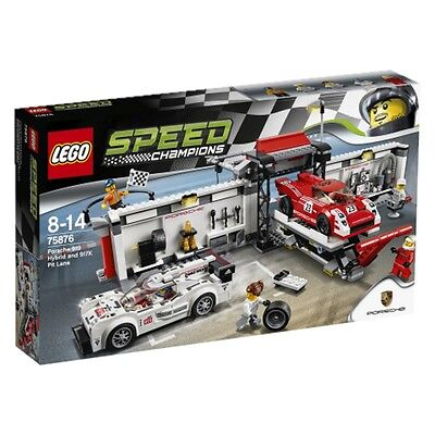 Lego Speed Champions Porsche 919 Hybrid and 917K Pit Lane 75876