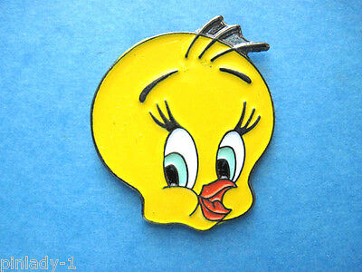 TWEETY BIRD face -   hat pin , lape pin , tie tac , hatpin