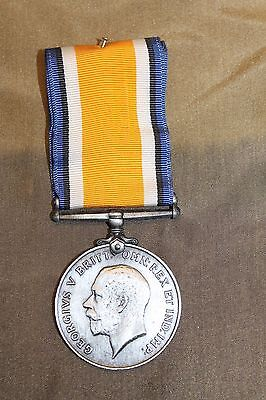 Original WW1 British War Medal 1914-1918 w/Full Ribbon, Scarce Unnamed Medal