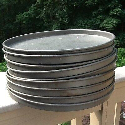 "LOT OF 9~HEAVY DUTY 16""X1""deep American Metalcraft restaurant Pizza 1lb 9oz pan"