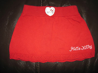 HELLO KITTY baby knit SKIRT Sanrio 2-4 months KAWAII RED