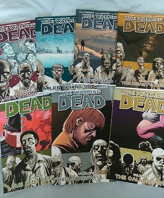 The Walking Dead Volumes 1 - 7 Graphic Novels