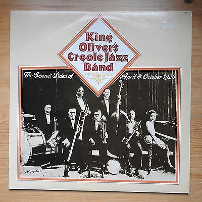 King Oliver's Creole Band - The Gennet Sides of Apr & Oct 1923 LP (1981) VG+/VG