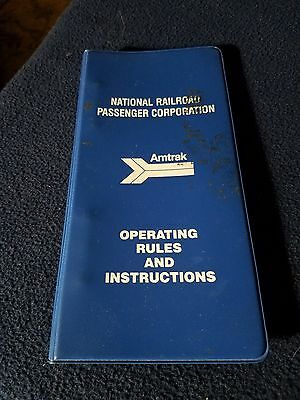 1985 Amtrak Operatating Rule Book  #244