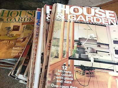 'House and Garden' Magazines from 1956 to 1982 (over 90 copies).