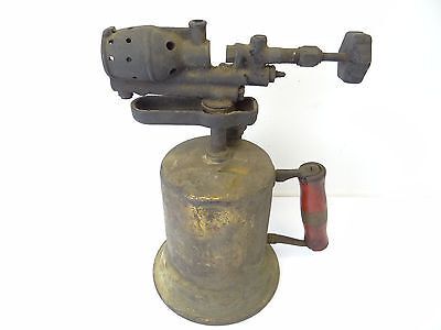 Antique Old Clayon & Lambert Torch Blowtorch Gas Decorative Metal Used
