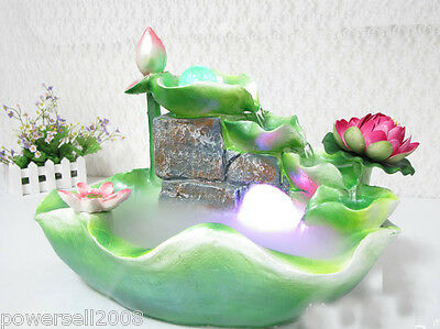 New Fashion Home Decorative Craft Gifts 41*27*30cm Lotus Flowing Water Fountain