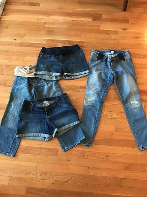 Maternity Shorts And Jeans Size Small Lot Of 4