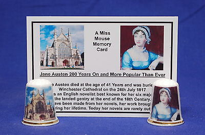 Jane Austen 200yrs On and More Popular Than Ever Thimble Box Set+Card B/164