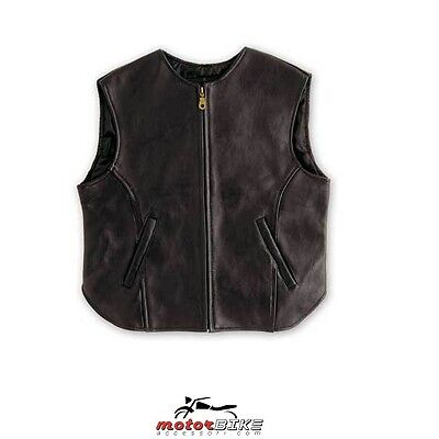 A Pro Gilet In Pelle Moto Black Out