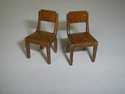 Dinky Toys Pre War Dolly Varden Dolls House Dining Room Chairs x 2
