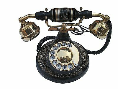 Vintage Style Rotary Retro Old Fashioned Rotary Dial Home And Office Telephone