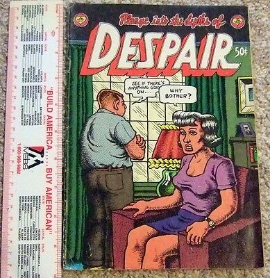 Plunge Into The Depths Of Despair R. Crumb  Print Mint 1969 1st Printing