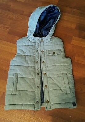 Janie & Jack Hooded Vest Light Gray size 5 to 6