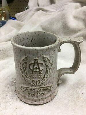 Budweiser Cup Police Academy Conference 1980 Beer Pottery Mug St Louis 4-3/4""