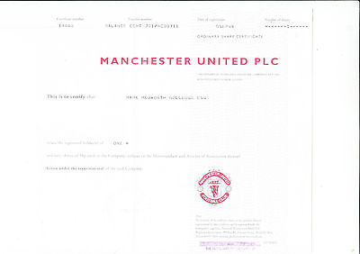 Manchester United PLC, - Man United - Red Devils -