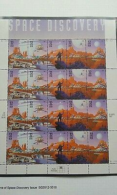 USA 1998 Space Discovery Sheet 20 x.32c stamps MNH