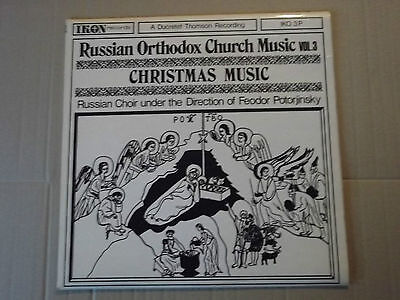 RUSSIAN ORTHODOX CHURCH MUSIC v.3 - CHRISTMAS LP IKO 3P potorjinsky