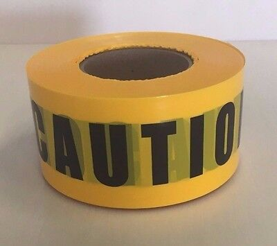 "Yellow Caution Barricade Warning Tape 3"" X 1000'"