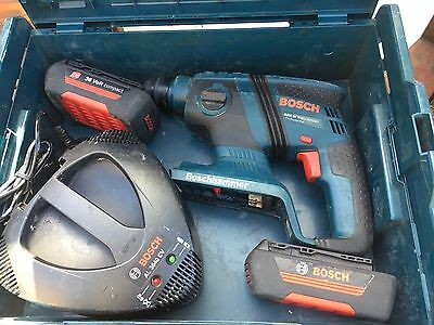 Bosch 36v SDS Drill Compact 2 Batteries Charger Carry Case