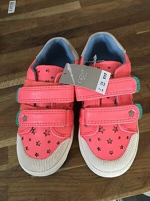 New NEXT girls  trainers shoes size infant 7 pumps