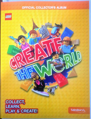 Sainsbury's LEGO Create the World OFFICIAL Collector's Album WITH 121 CARDS New