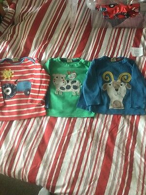 frugi baby boys long sleeve tops bundle 18-24 months organic cotton