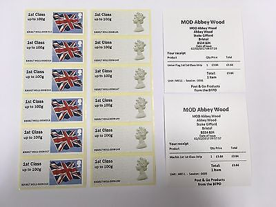 2/02/17 FIRST DAY ISSUE POST AND GO M011 MOD ABBEY WOOD 1st CLASS STRIPS