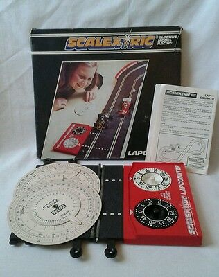 Vintage SCALEXTRIC LAPCOUNTER  MECHANICAL BOXED COMPLETE