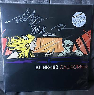 Blink 182 - California Vinyl SIGNED RARE Mark Hoppus Travis Barker Matt Skiba