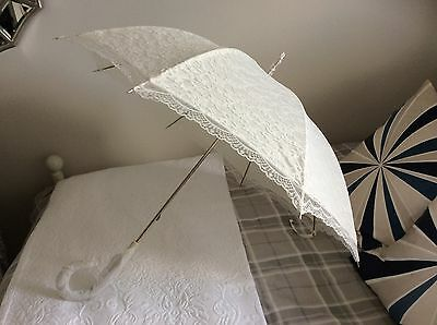 Ivory Lace Wedding Bridal Umbrella/Parasol - Waterproof - NEW