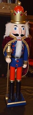 """18"""" Wooden King NUT CRACKER Christmas Holiday Winter Season New With Tags"""