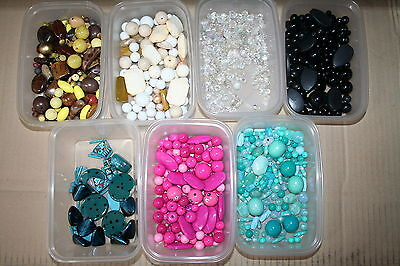 Large Quantity Of Beads For Craft/jewellery Making Etc.