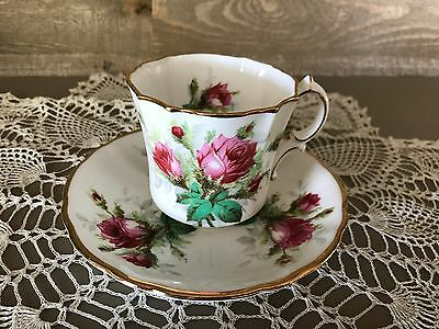 Hammersley Tea Cup and Saucer Grandmothers Rose Vintage