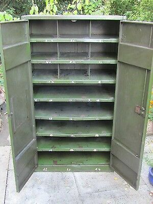 Large Vintage Industrial Steel Cabinet- Home- Restaurant- Shop