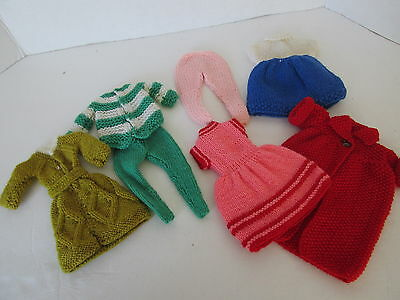 Barbie - 8 Pieces Hand Knitted Clothes -Never On Dolls