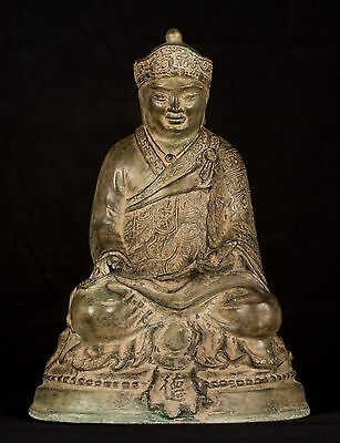 19th Century Antique Chinese Teaching Buddha Statue - 35cm/15""
