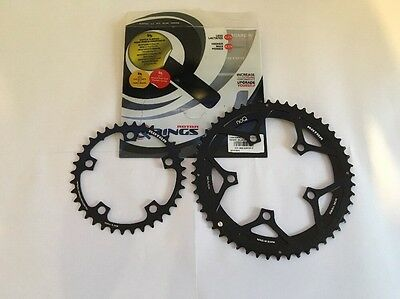 Rotor NoQ Chainrings - 52-36T, Matched Pair, New, Take Off