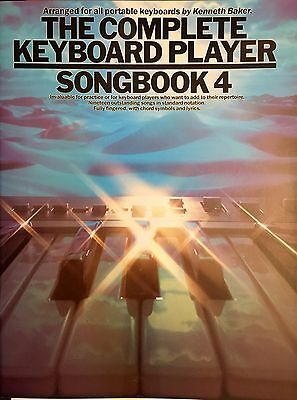 Complete Keyboard Player Songbook 4 Sheet Music Book 19 Great Songs & lyrics
