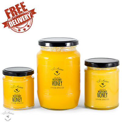 Raw Wildflower Crystallised Honey From Hungary 100% Pure Unprocessed Multipack