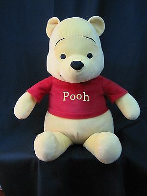 """Winnie The Pooh Disney CO. golden yellow red shirt classic 18"""" seated large NICE"""